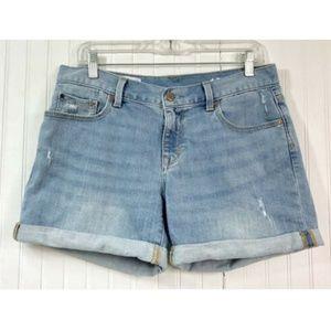 GAP 1969 Sexy Boyfriend Jean Shorts Size 28 Cuffed